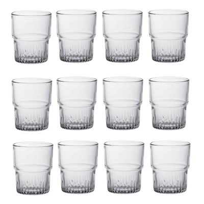 Duralex Empilable Stacking Water / Juice Tumbler Glasses - 200ml - x12