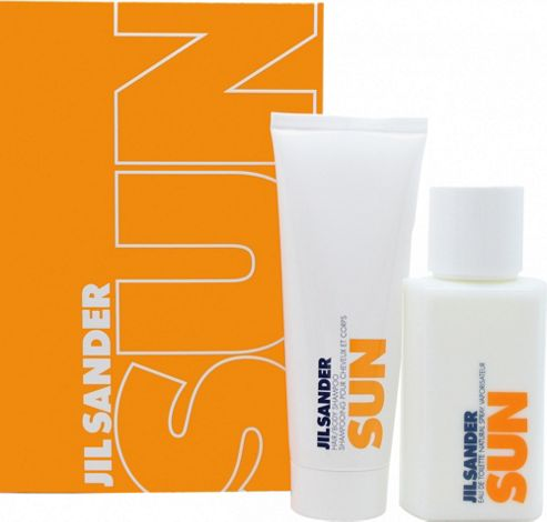Jil Sander Sun Gift Set 75ml EDT + 75ml Hair & Body Shampoo