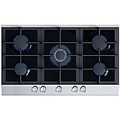 MyAppliances ART28910 90cm Gas on Glass Hob in Black / Stainless Steel
