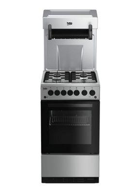 Beko Single Oven Gas Cooker, KA52NES - Silver