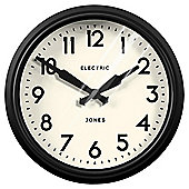 Jones The Apollo Matte Black Wall Clock