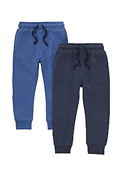 F&F 2 Pack of Joggers - Navy & Blue