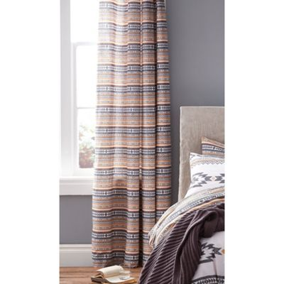 Catherine Lansfield Aztec Eyelet Curtains - 66x72 Inches (168x183cm)