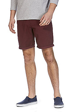 F&F Chino Shorts - Burgundy