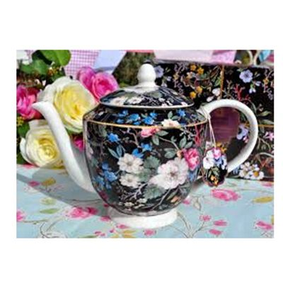 MW WK Teapot 1L Midnight Blossom GB