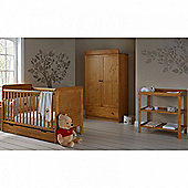OBaby Winnie the Pooh Double 4pc Room Set (Country Pine)