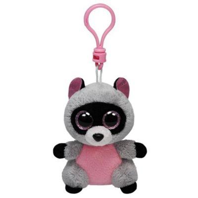 TY Beanie Boo Key Clip Rocco Raccoon