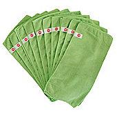 Harbour Housewares Microfibre Cloths - Pack of 10 - Large 40 x 40cm - Green