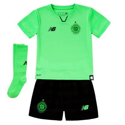 timeless design a14c5 4a69d New Balance Celtic FC 2017/18 Junior Infant Third Kit Green - 18-24 Months