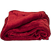 Faux Fur Red Mink Throw Soft Warm Blanket 150 x 200cm