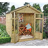 7 x 5 Rock Bloxham Summerhouse Garden Wooden Summerhouse 7ft x 5ft (2.14m x 1.54m)