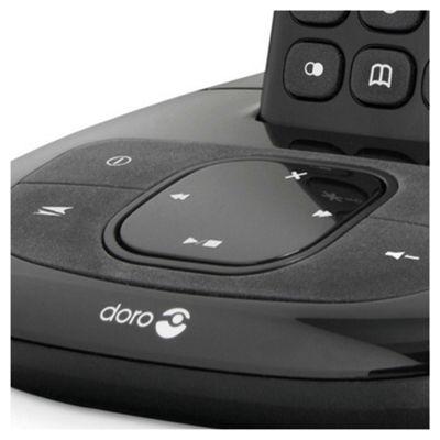 Doro Comfort 1005 Cordless Phone with Answering Machine - Black