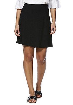 F&F Plain Flippy Skirt - Black
