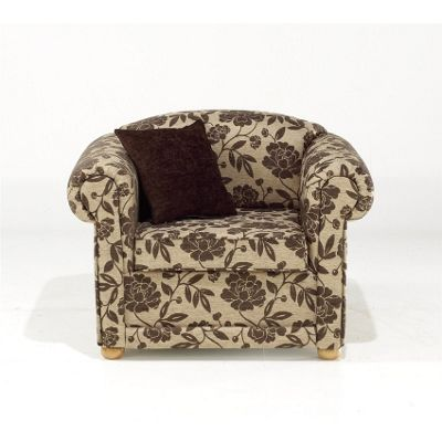 Chesterfield Chair - Chocolate Bloom