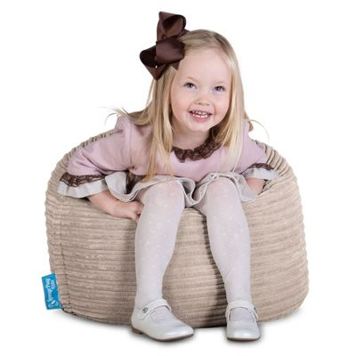 Lounge Pug® Childrens Beanbag Chair - Cord Mink