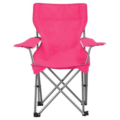 Tesco Kidsu0027 Folding Camping Chair, Pink