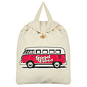 Good Vibes Cream Festival Backpack 35x41cm