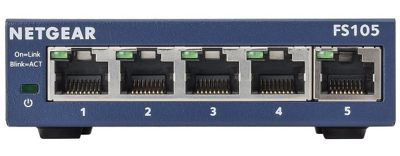 Netgear FS105 ProSAFE 5-port Fast Ethernet 10/100 Unmanaged Switch