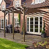 Lean to Garden Pergola 4.8m x 4.8m - 3 Post
