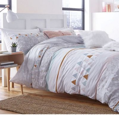 Catherine Lansfield Marble Cotton Rich Single Duvet Set Multi