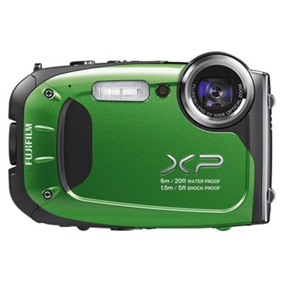 Fujifilm XP60 Tough Digital Camera, Green, 16MP, 5x Optical Zoom, 2.7 inch LCD Screen