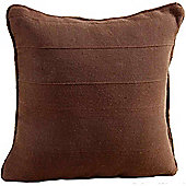 Homescapes Cotton Rajput Ribbed Chocolate Cushion, 60 x 60 cm