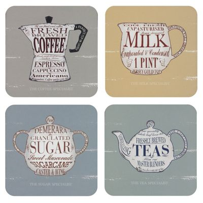 Martin Wiscombe The Specialist Coasters, Set of 4