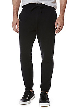 F&F Drawstring Slim Fit Joggers with As New Technology - Black