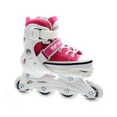 SFR Camden Adjustable Inline Skates - Pink - UK 8J - UK 11J