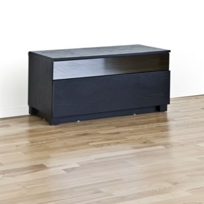RGE Base 1 Drawer Multi-Media TV Storage and Display Unit - Lacquer Black High Gloss