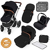 ickle bubba Stomp V3 Silver All-In-One Travel System (Black)
