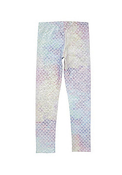 F&F Active Mermaid Foil Leggings - Silver multi
