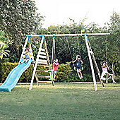 TP Galapagos Wooden Double Swing Set & Slide