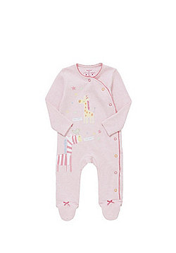 F&F Little Giraffe and Little Zebra Sleepsuit - Pink