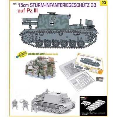 DRAGON 9123 Sturm-Infanteriegeshutz 33 Ausf.Pz III Ltd 1:35 Military Model Kit