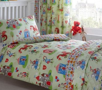 Knights Toddler Bedding - Dragons, Horses, Castles, Medieval