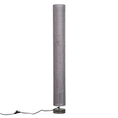 Homcom 120cm Modern Floor Lamp with Fabric Linen Shade (Grey)