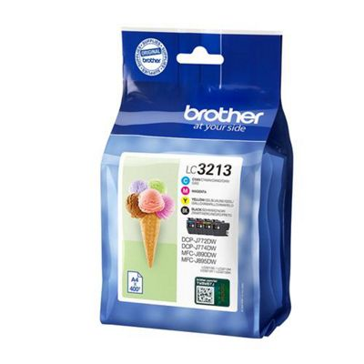 Brother LC-3213VAL 400pages Black Cyan Magenta Yellow ink cartridge