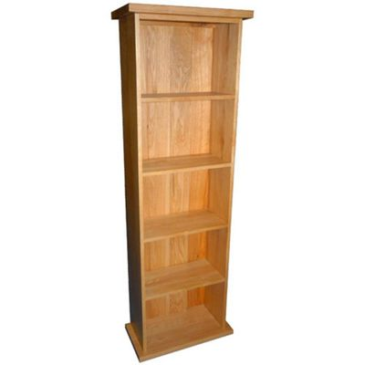 Kelburn Furniture Essentials Double DVD Tower in Light Oak Stain and Satin Lacquer