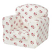 Children's Single Sofa Chair - Rose Natural