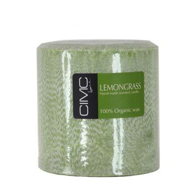 Lemon Grass Scented Large Pillar Candle