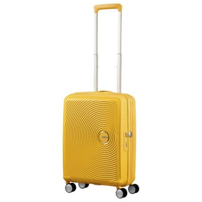 American Tourister Soundbox Cabin 8 Wheel Yellow Suitcase