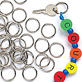 Kids Bead Crafts Split Metal Rings (Pack of 100)