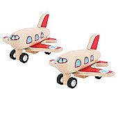 Bigjigs Toys Pull Back Planes (Pack of 2)