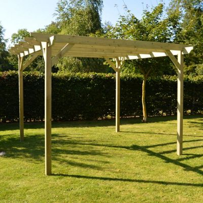 Garden Pergola 2.4m x 2.4m - Sculpted Rafter End