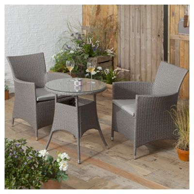 tesco san marino rattan garden bistro set grey - Rattan Garden Furniture Tesco