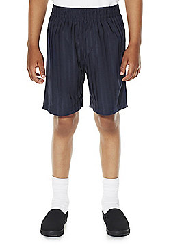 F&F School 2 Pack of Boys Sports Shorts - Navy
