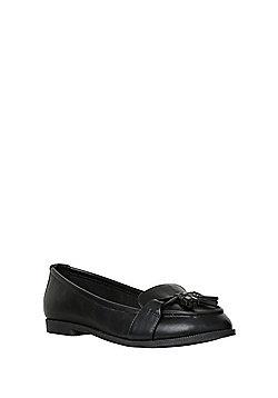 F&F Sensitive Sole Twist Tassel Loafers - Black