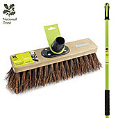 """Charles Bentley National Trust Garden 12"""" Natural Bassine Sweeping Broomw/Handle"""
