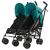 Obaby Apollo Twin Stroller, Black/Turquoise